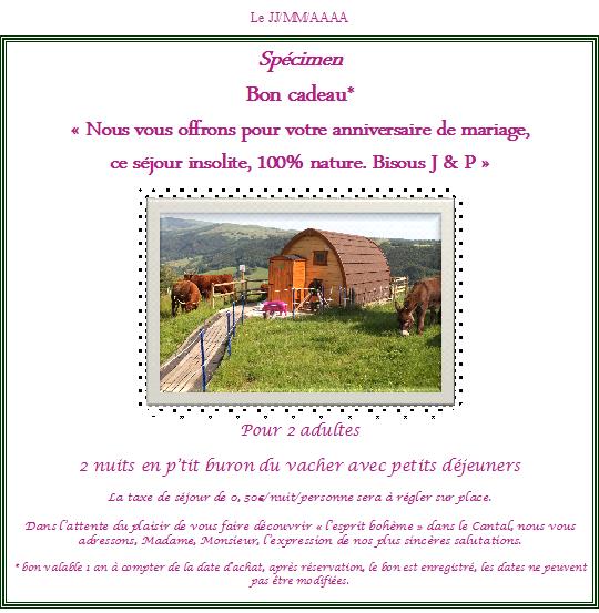 Offrez Un Bon Cadeau Domaine De La Chaux De Revel